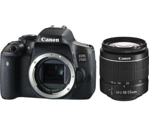 Canon EOS 750D + EF-S 18-55mm f/3.5-5.6 DC III Kit Black 0592C115AA