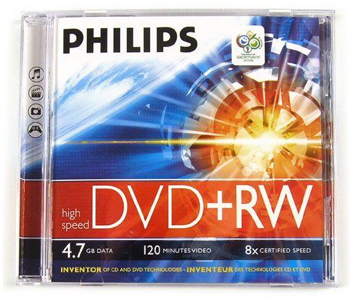 Philips DVD+RW 4,7Gb 4x (1-es címke)