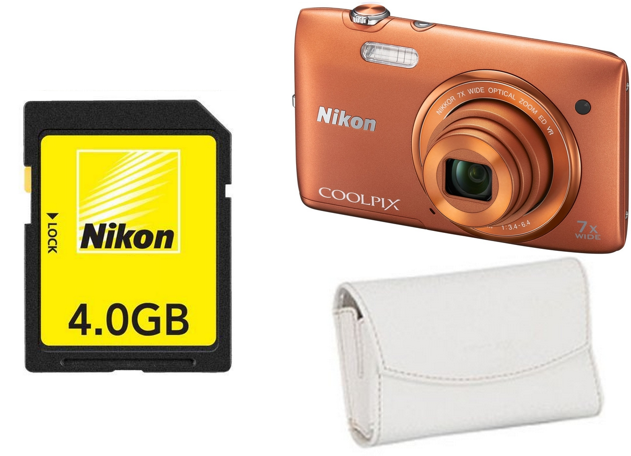 92bd82cd9d09 Nikon Coolpix S3500 Orange Kit (CS-S09 tok + 4GB SD kártya) - iWay ...