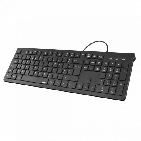 Hama KC-200 Basic Keyboard Black HU