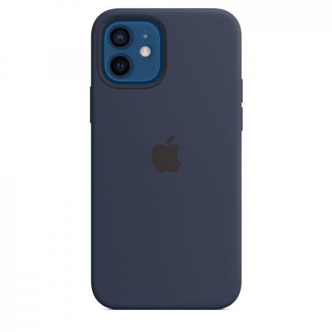 Apple iPhone 12 / 12 Pro Silicone Case with MagSafe Deep Navy
