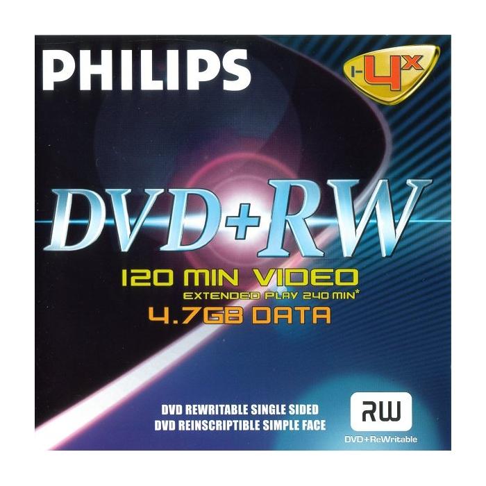 Philips DVD-RW 4,7Gb 4x (1-es címke)