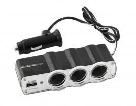 Esperanza Car cigarette lighter socket splitter with USB port