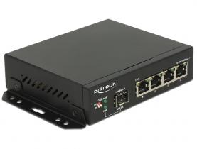 DeLock Gigabit Ethernet Switch 4 portos + 1 SFP