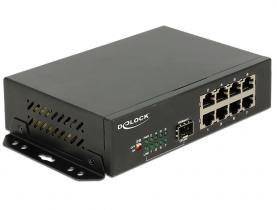 DeLock Gigabit Ethernet Switch 8 Port + 1 SFP