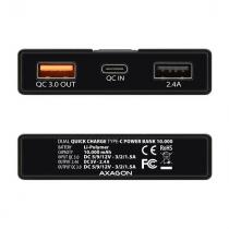 AXAGON PWB-L10QD Power Bank 10000mAh Black