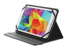 "Trust Primo Folio Case with Stand for 7-8"" tablets Black"