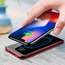 Baseus  8000mAh Wireless Charger 2A Dual USB Power Bank Red