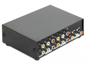 DeLock Audio/Video 4 port manual bidirectional Switch