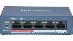 Hikvision DS-3E0105P-E/M 5 port 100Mbps unmanaged Switch PoE