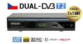Evolveo Gamma T2 Set-top box Dual HD DVB-T2 H.265/HEVC Recorder