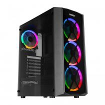 Rampage Everest Flat Glass RGB Termpered Glass Black