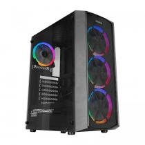 Rampage Everest Flat Mesh RGB Tempered Glass Black