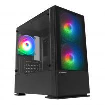 Rampage Private RGB Tempered Glass Black