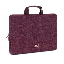 "RivaCase 7913 Laptop sleeve with handles 13,3"" Burgundy red"