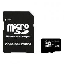 Silicon Power 8GB Micro Secure Digital Card + SD adapter CL6