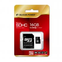 Silicon Power 16GB Micro Secure Digital Card + SD adapter CL6