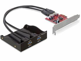 DeLock USB 3.0 Front Panel 2-Port inkl. PCI Express Card