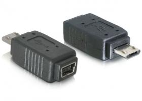 DeLock Adapter USB micro-B male to mini USB 5pin