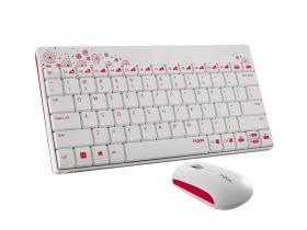 Rapoo 8000 Wireless Keyboard & Mouse Combo White/Pink